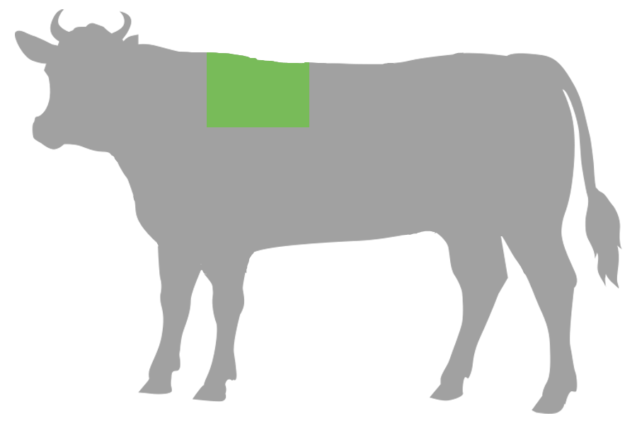 Simmentaler Rinderrücken Ribeye 30cm