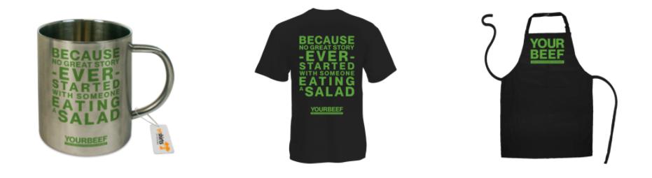 Grillfan-Artikel wie T-Shirts, Hoodies, Tassen und anderes